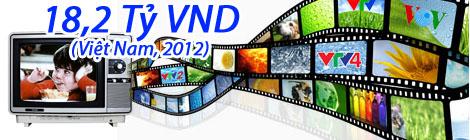 Quảng cáo truyền hình chiếm 18.2 tỉ VND tại Việt Nam 2012